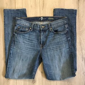 7 for all mankind slimmy Jeans 31x30 1/2